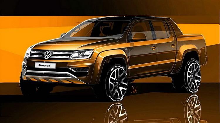 Volkswagen опубликовал первые изображения обновленного Amarok