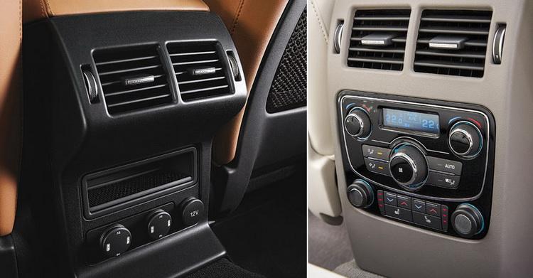 Высокую оценку F-Расе заслуживает и за простор, и за оснащение (пусть и опциональное) заднего ряда: раздельный климат-контроль, розетки, подогрев и вентиляция сидений - это уровень представительского седана. Угол наклона спинок имеет электрорегулировку. В общем, задним пассажирам удобно. Здесь же отметим, что багажник тоже не заслуживает упреков – 650 литров, которых более чем достаточно.