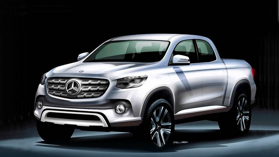 Официальный эскиз пикапа Mercedes-Benz