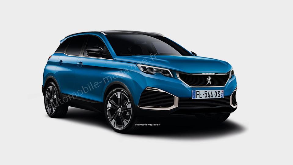 Предполагаемый экстерьер Peugeot 3008