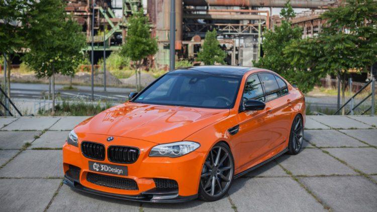 Оранжевый БМВ M5 преобразился благодаря Carbonfiber Dynamics— Просто огонь