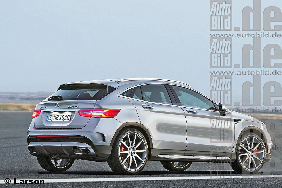 Предполагаемый внешний вид будущего Mercedes GLA