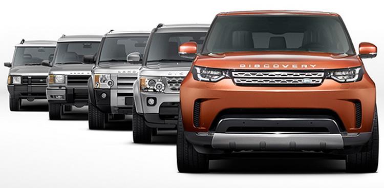 На переднем плане - грядущий Land Rover Discovery