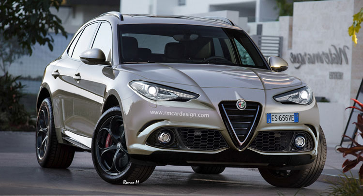 Еще один возможный вариант облика Alfa Romeo Stelvio