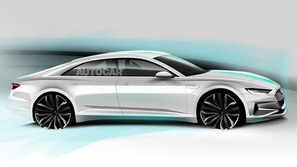 Предполагаемый облик Audi A9 e-tron