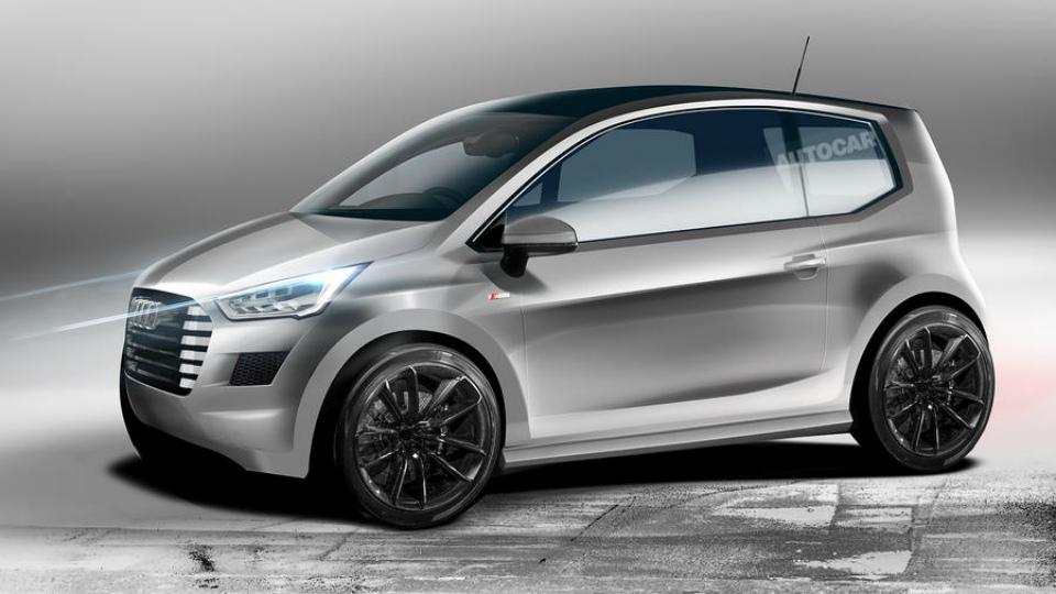 Возможный внешний вид электрического сити-кара Audi