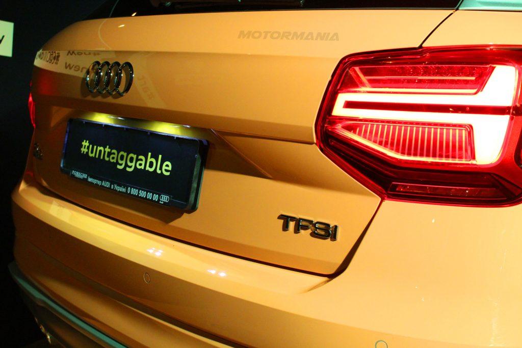 Компания Audi отказалась от дизайна продолговатых задних фар на новом Audi Q2