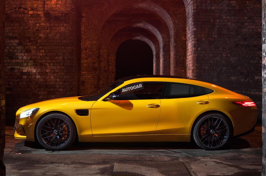 Предполагаемый облик Mercedes-AMG GT4