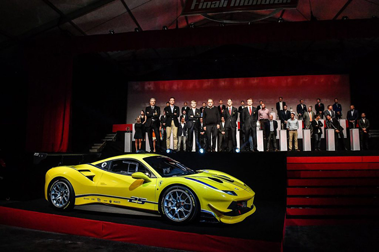 Ferrari представила новый гоночный автомобиль 488 Challenge