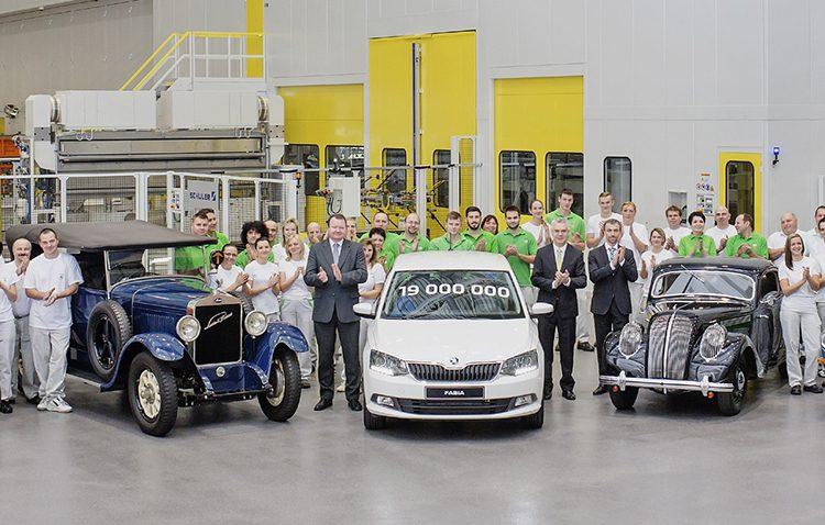 Чешская компания Шкода выпустила 19-миллионный автомобиль
