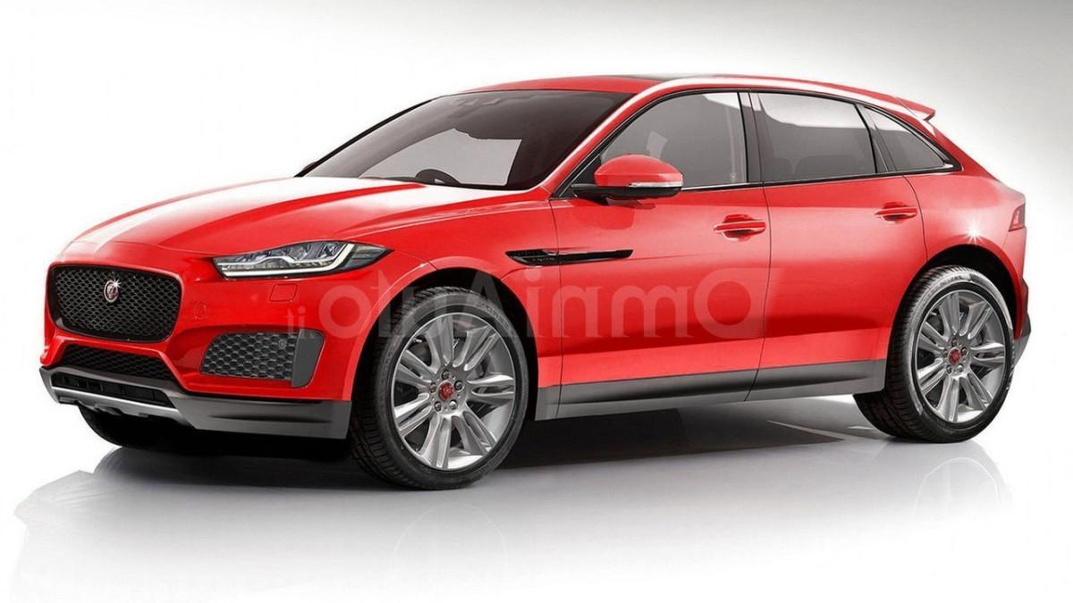Возможный облик Jaguar E-Pace