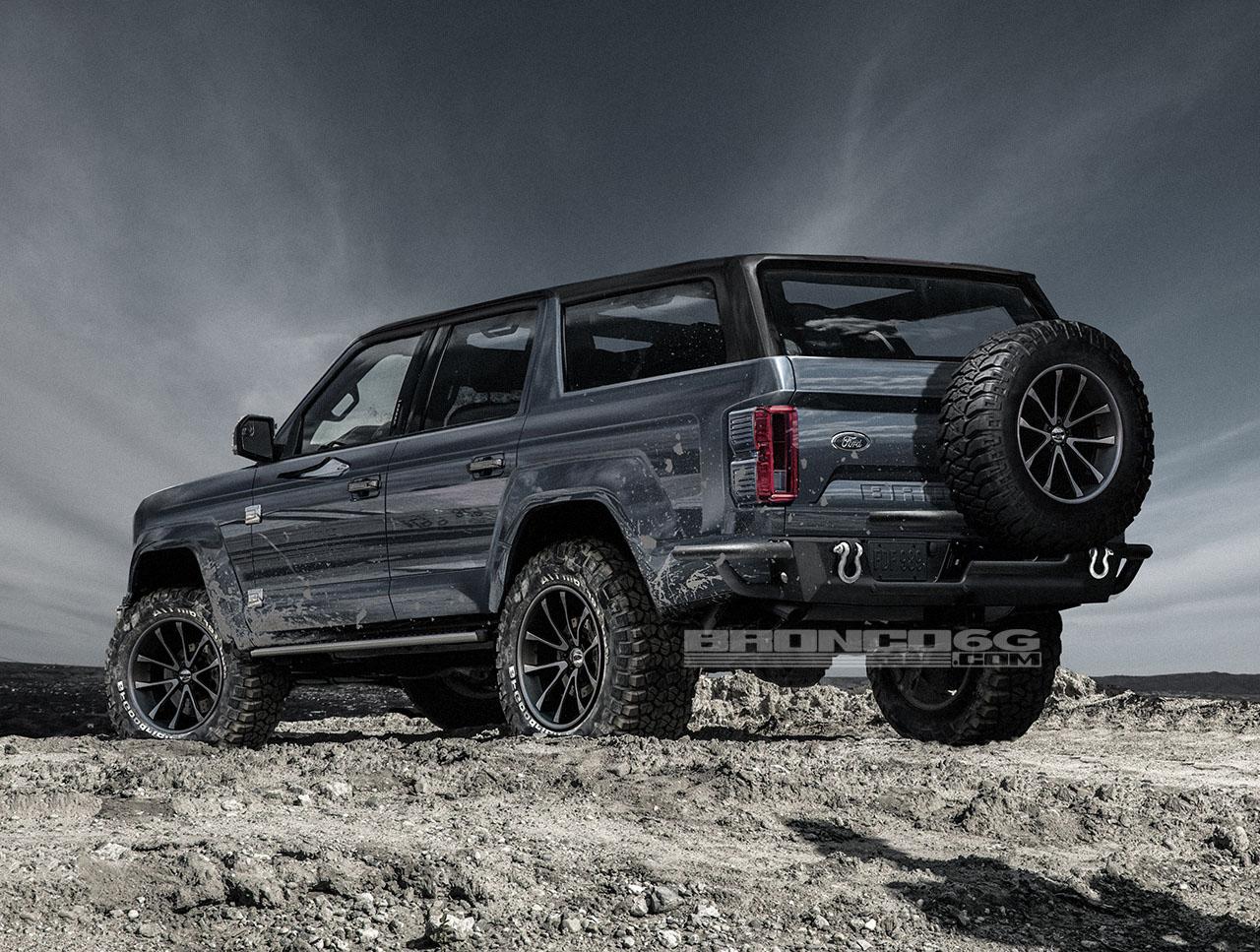 Возможный облик Ford Bronco 2020